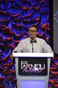 John Andrews, CEO of QSC, was a presenter at the 15th Annual Parnelli Awards